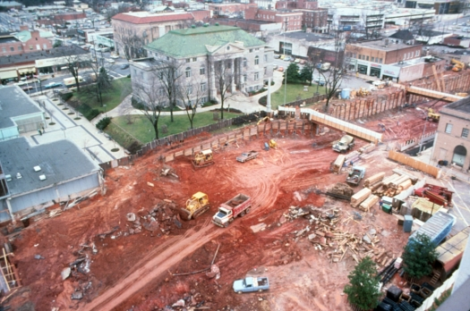 If you weren't around in the late 1970s, it's difficult to imagine just how disruptive construction of the Marta station actually was. Click for larger view.