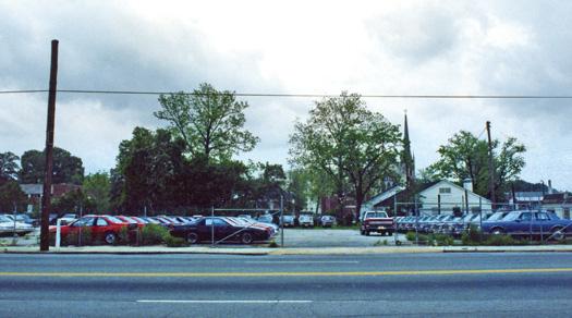 The Towne Square condo site, prior to construction.