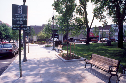 The first phase of streetscape improvements, completed prior to the Olympics in 1996.
