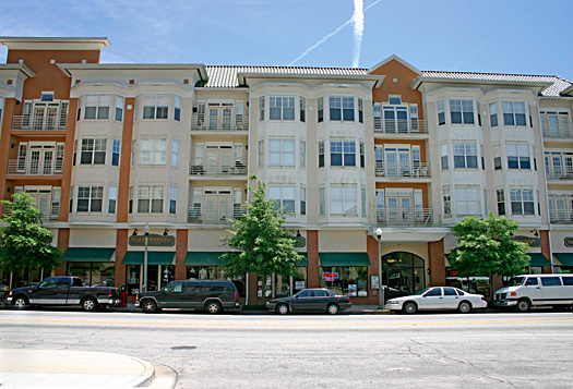The Towne Square condos today.
