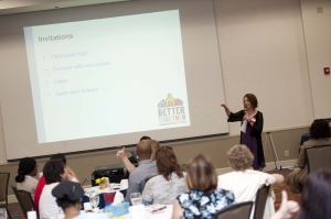 Decatur residents develop their facilitation skills at Better Together's Leadership  and Facilitation Training session.